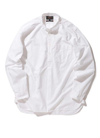 BAND COLLAR PULLOVER SUVIN COTTON BROAD SHIRT