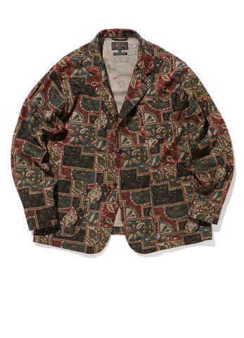 4B CUFFS JACKET WOOL PRINT