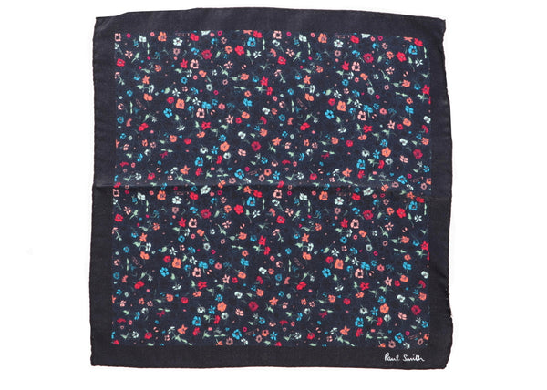 MUSIC FLORAL PRINT SILK POCKET SQUARE