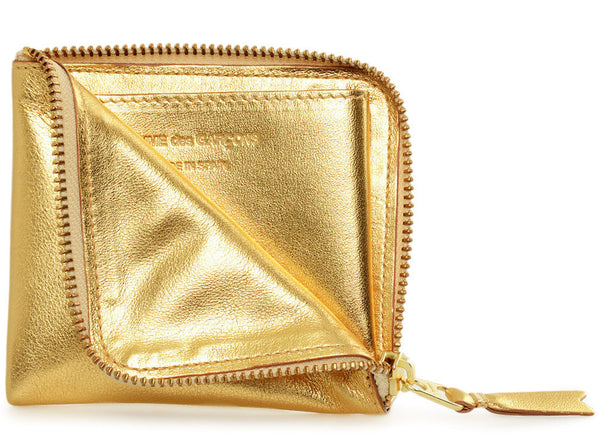 gravitypope - comme des garcons WALLET - GOLD SIDE ZIP - Unisex Accessories