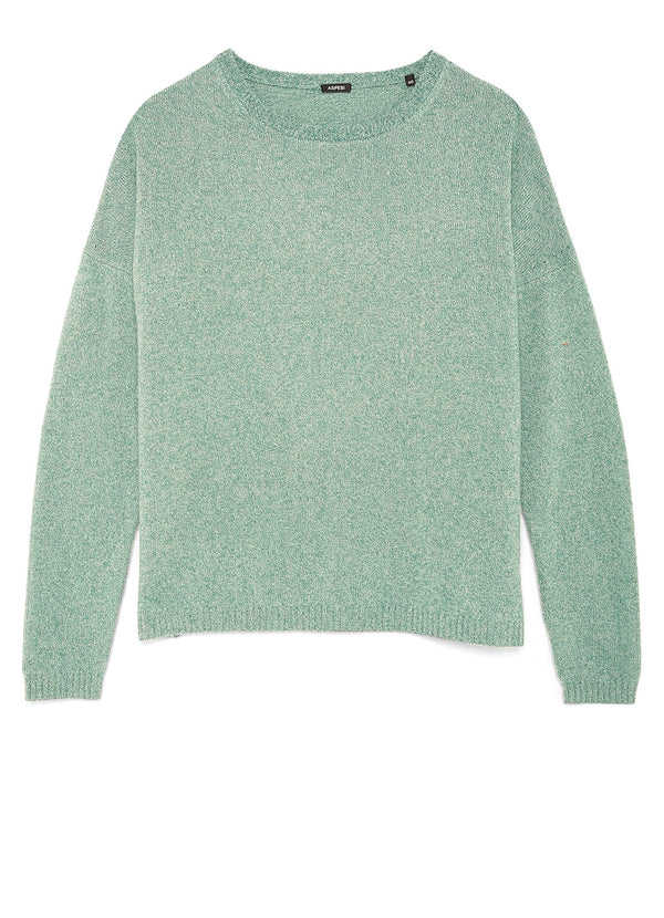 MARL-EFFECT SWEATER IN GARMENT-DYED MERINO WOOL
