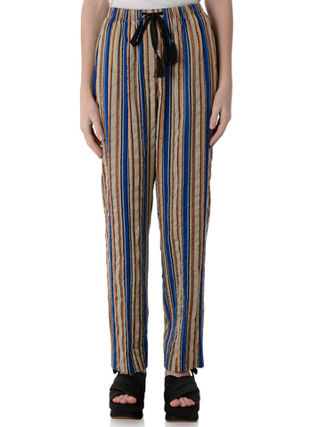 6021 STRIPED LUREX PANTS