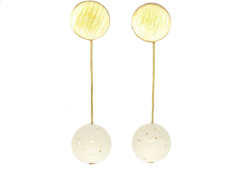 GLASS DROP SPHERE EARRING