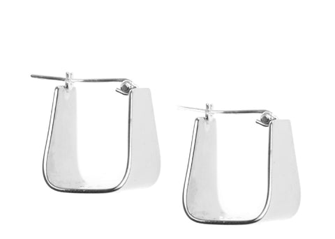 PETITE TRAPEZOID HING EARRING