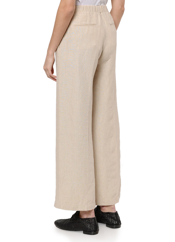 7128 WIDE LEG DELAVÉ LINEN TROUSERS