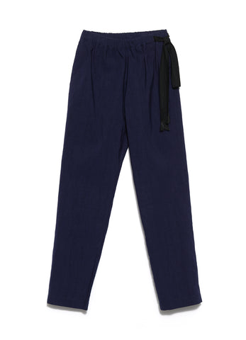 7222 SLUBBED COTTON LINEN DRAWSTRING PANTS