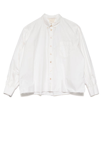 7581 ORGANIC COTTON POPLIN BUTTON DOWN SHIRT