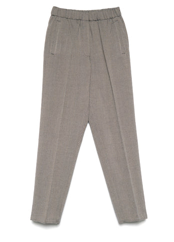 7737 HERRINGBONE WOOL ELASTICATED PANTS
