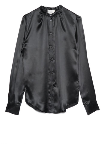 7779 SHIRT WITH GATHERED DETAILING IN SILK SATIN