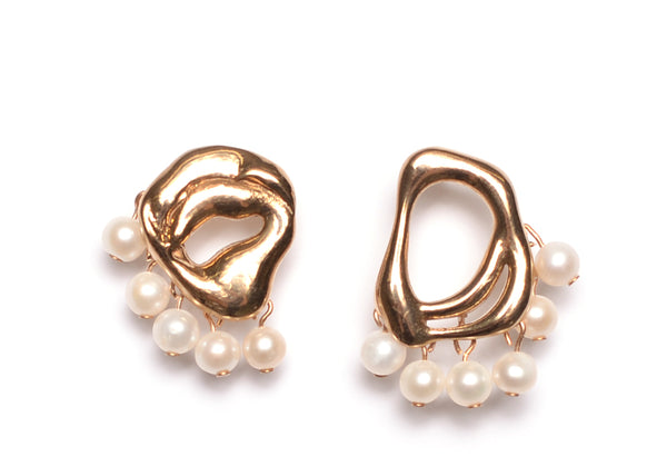 PETITE DANCING PEARL DROP EARRINGS