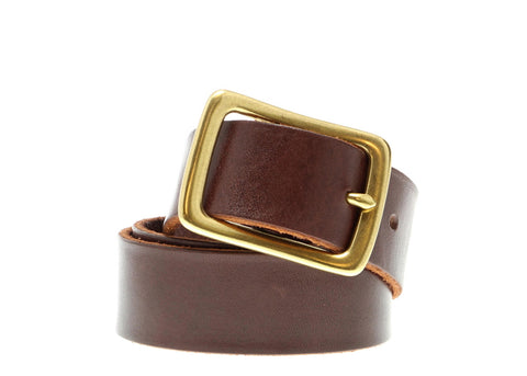 HAVANA BROWN BRIDLE LEATHER BELT