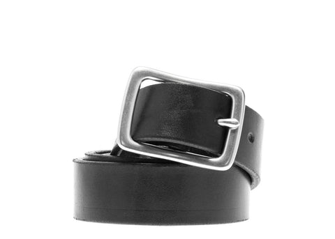 BLACK BRIDLE LEATHER BELT