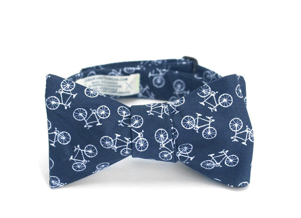 NAVY BIKE BOW TIE
