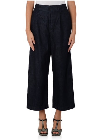 PLEATED DENIM PANT