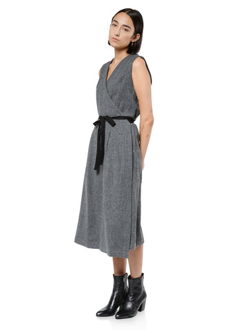 FELTED WOOL WRAP DRESS