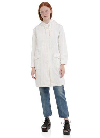 COTTON TWILL HOODED COAT