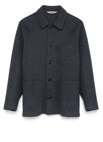 TADAO JACKET IN BOILED WOOL JERSEY
