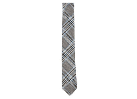GEORGIO PLAID NECK TIE