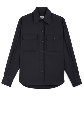 CHEST POCKETS BUTTONED OVERSHIRT