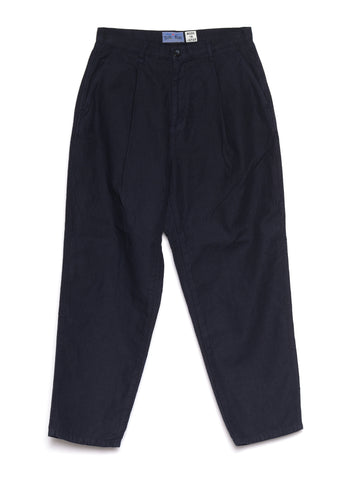 COTTON LINEN BACK CHINO TAPERED WORK PANTS