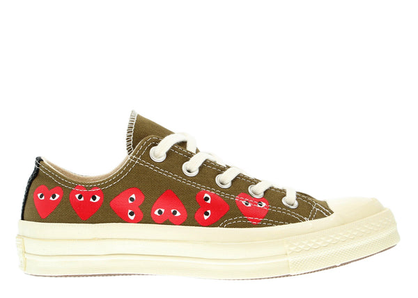8fa67c82af0c Converse x Comme Des Garcons PLAY - Low Top in Khaki – gravitypope