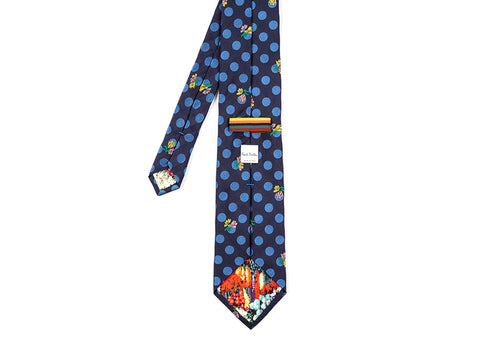 POLKA DOT WITH FLOWERS TIE