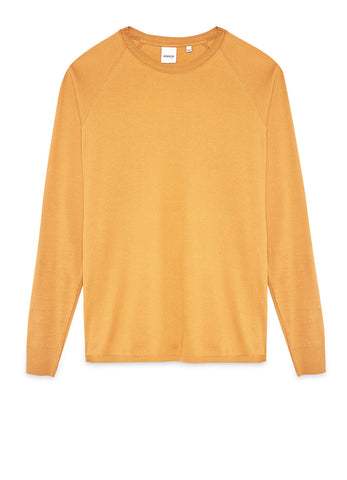 GARMENT-DYED SWEATER IN PURE SUPER-FINE COTTON