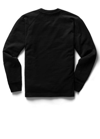 MIDWEIGHT JERSEY EMBROIDERED LONG SLEEVE