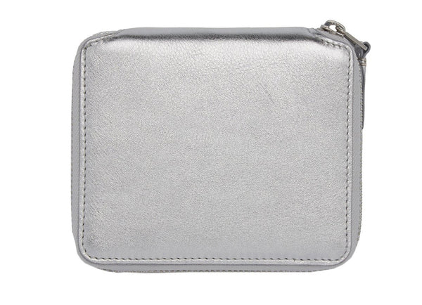 GOLD AND SILVER ZIP WALLET