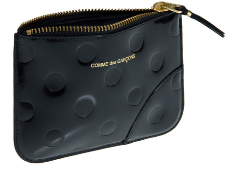 gravitypope - comme des garcons WALLET - POLKA DOT EMBOSSED ZIP POUCH WALLET - Unisex Accessories