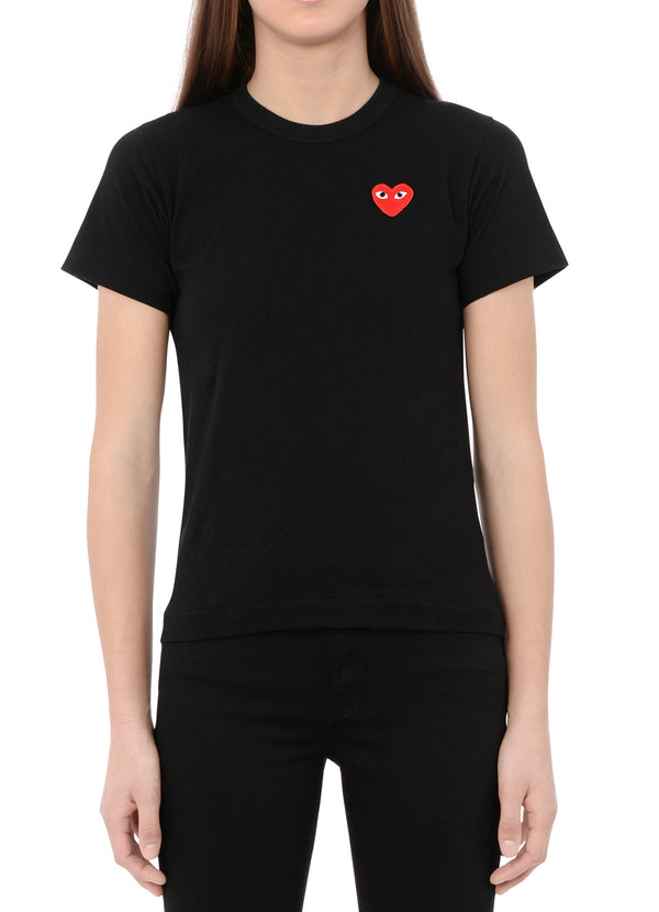 gravitypope - comme des garcons PLAY - T107-BLK - Womens Clothing