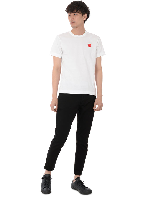 gravitypope - comme des garcons PLAY - T108-WHT - Mens Clothing