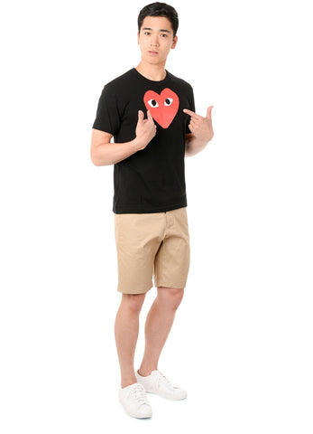 gravitypope - comme des garcons PLAY - T112-BLK - Mens Clothing