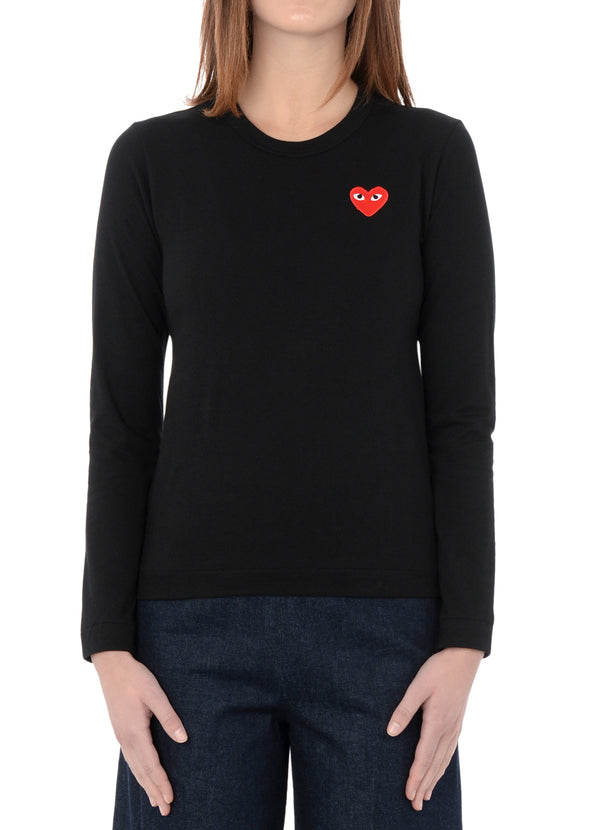 gravitypope - comme des garcons PLAY - T117-BLK - Womens Clothing