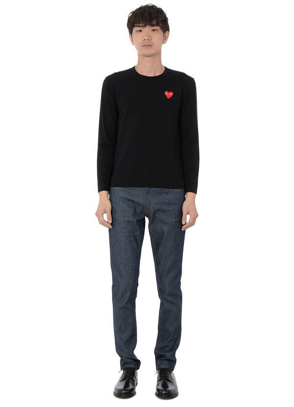 gravitypope - comme des garcons PLAY - T118-BLK - Mens Clothing