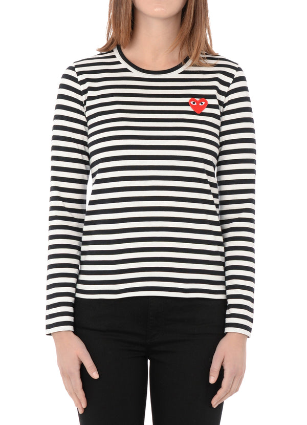 gravitypope - comme des garcons PLAY - T163-B/W - Womens Clothing
