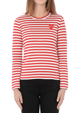 gravitypope - comme des garcons PLAY - T163-RED - Womens Clothing