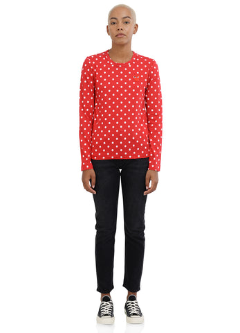gravitypope - comme des garcons PLAY - T165-R/W - Womens Clothing