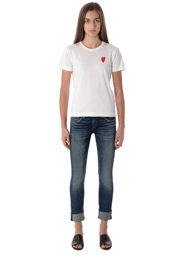 gravitypope - comme des garcons PLAY - T229-WHT - Womens Clothing