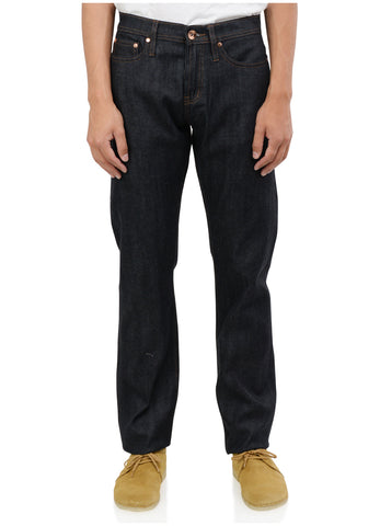TAPERED FIT 11OZ INDIGO STRETCH SELVEDGE DENIM