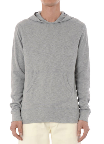 gravitypope - wings + horns - 1X1 SLUB HOODED PULLOVER - Mens Clothing