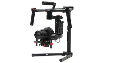 Steadygim3 PRO Gimbal Mounted to Extension Pole