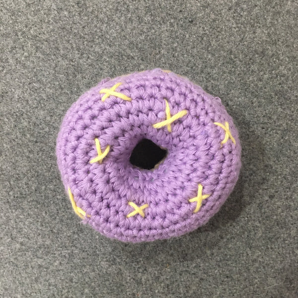 Crocheted Donut Rattle