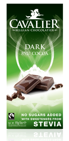 Cavalier Stevia Dark chocolate Tablet