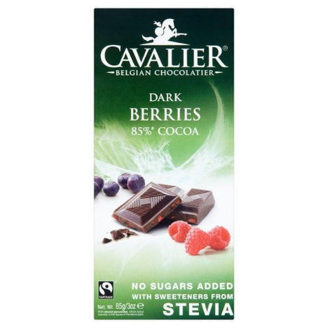 Cavalier Stevia Chocolate Tablet - Berries Dark