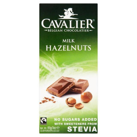 Cavalier Stevia Milk Chocolate Tablet - Hazelnut
