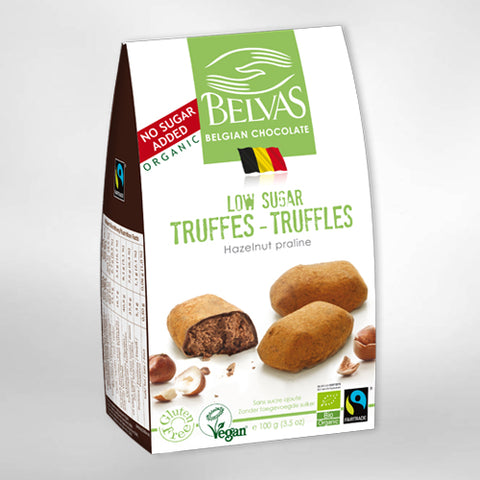 Belvas Hazelnut truffles No Sugar added