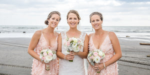 Bridesmaids holding Bouquets. Wedding Flowers Auckland