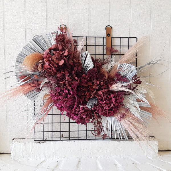 Dried Flower Wall Hanging - On Metal Frame