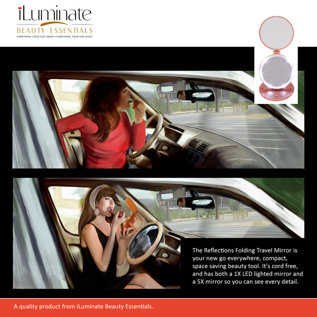 Iluminate Beauty Lighted Makeup Mirror With Lights Ideal